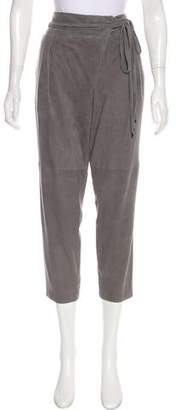 Tibi High-Rise Leather Pants