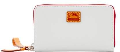 Dooney & Bourke Patterson Leather Zip Around Phone Wristlet - WHITE - STYLE