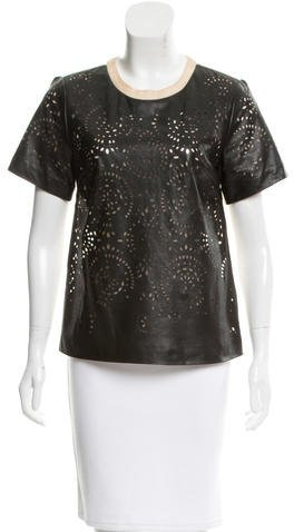 3.1 Phillip Lim 3.1 Phillip Lim Laser Cut Leather Top