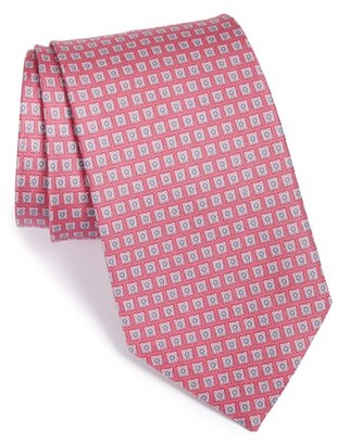 Men's Salvatore Ferragamo Gancini Print Silk Tie $190 thestylecure.com