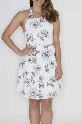 Hommage Floral Cut Out Dress