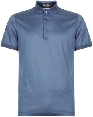 Corneliani Embroidered Trim Polo Shirt