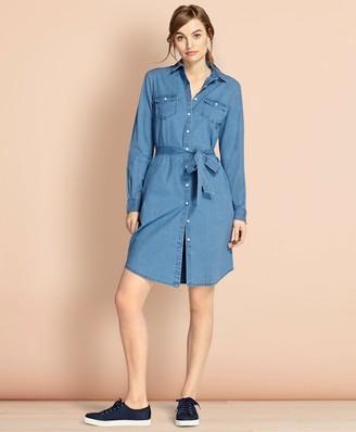Brooks Brothers Cotton Chambray Shirt Dress