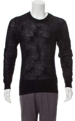 Christian Dior 2007 Mohair Woven Crew Neck Sweater
