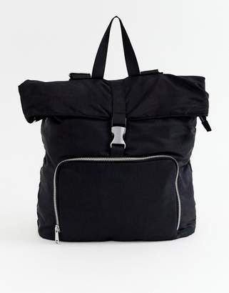 Asos Design DESIGN large backpack with buckle detail