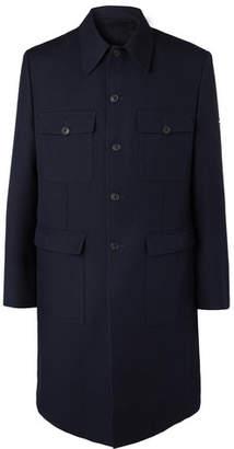Balenciaga Wool-Twill Coat - Men - Midnight blue