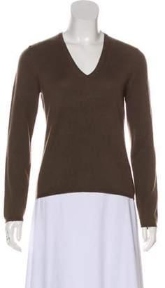 Malo Cashmere V-Neck Sweater Brown Cashmere V-Neck Sweater