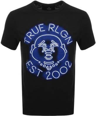 True Religion Neon Buddha T Shirt Black