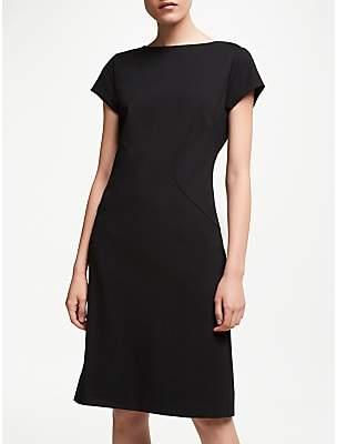 John Lewis & Partners Taylor Cap Sleeve Ponte Dress, Black