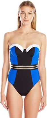 Kenneth Cole New York Women's Stompin In My Stilettos Underwire Mio One Piece Swimsuit