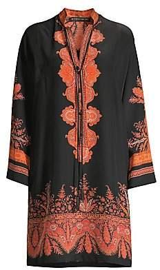 Etro Men's Paisley Silk Tunic Dress
