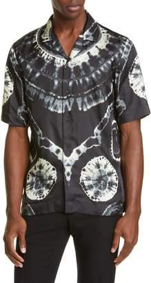Dries Van Noten Tie Dye Short Sleeve Button-Up Shirt