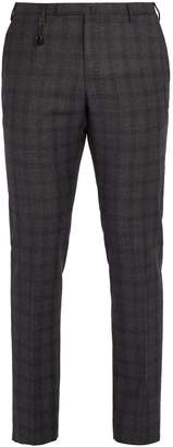 Incotex Slim-leg checked-wool trousers
