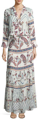 Melissa Odabash Mel Tie-Neck Paisley Summer Maxi Dress