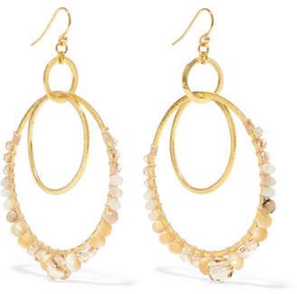 Chan Luu Gold Plated Multi Stone Earrings