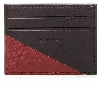 Longchamp Parisis Color-Block Leather Card Case