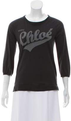 See by Chloe Graphic Print Long Sleeve Top