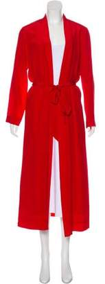 Mason by Michelle Mason Silk Lightweight Long Coat w/ Tags