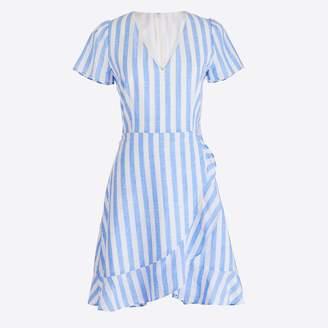 J.Crew Factory Striped faux-wrap dress