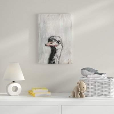 Wayfair Ostrich You Cute' Acrylic Painting Print on Wrapped Canvas