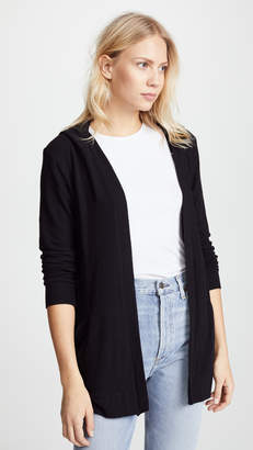 Chaser Long Sleeve Hooded Cardigan with Lace Back