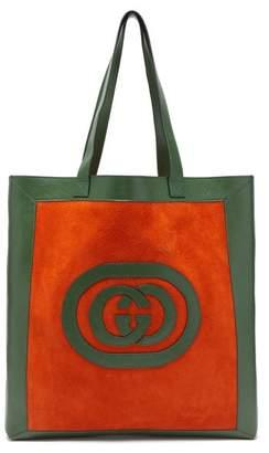 Gucci Ophidia Logo Applique Suede Tote - Mens - Orange