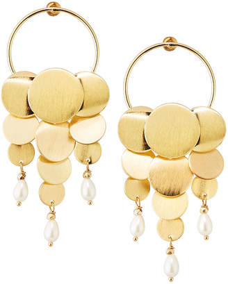 Nakamol Disc-Dangle & Pearl Hoop Earrings