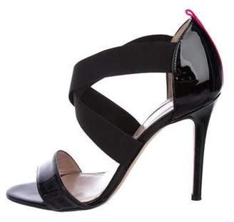 Sarah Jessica Parker Patent Leather Crossover Sandals