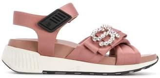 Sergio Rossi SR Icona embellished sandals