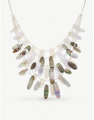 Kendra Scott Shell and acrylic silver-plated brass patricia necklace