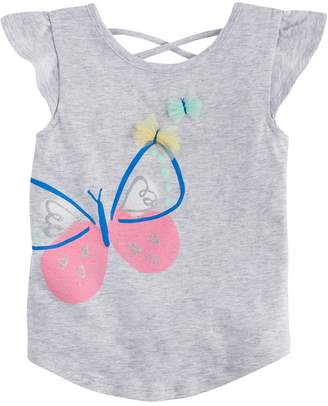 Toddler Girl Jumping Beans Butterfly Flutter-Sleeved Tee