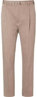 Bottega Veneta Stretch-Cotton Twill Trousers - Men - Beige