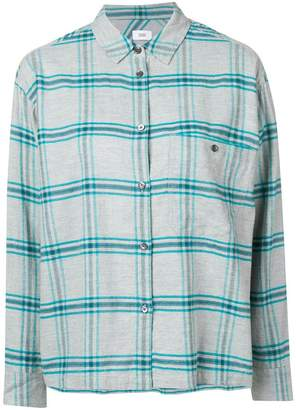 Closed checked button-down shirt