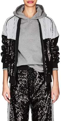 Alberta Ferretti Women's Sequin-Embellished Track Jacket