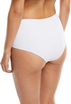Jonathan Simkhai Pearl Studded High-Waist Bikini Swim Bikini Bottoms