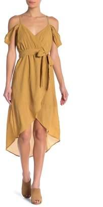 J.o.a. Cold Shoulder Wrap Dress