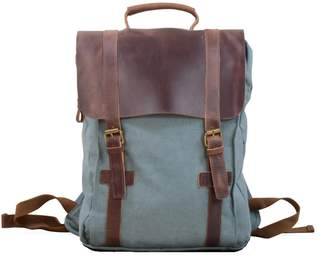 EAZO - Canvas & Leather Backpack in Blue