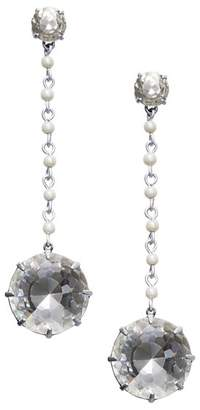 Tory Burch Faceted & Simulated Pearl Drop Earrings