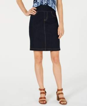Style&Co. Style & Co Ella Pull-On Denim Skirt, Created for Macy's
