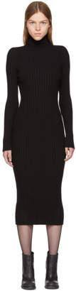 Haider Ackermann Black Ribbed Stormont Dress