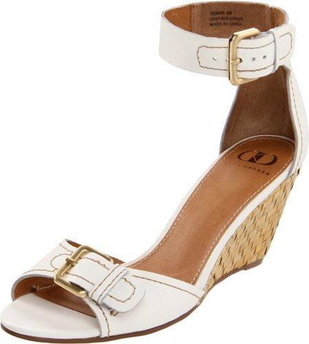 Kelsi Dagger Women's Gemini Ankle-Strap Sandal,White Leather,7.5 M US