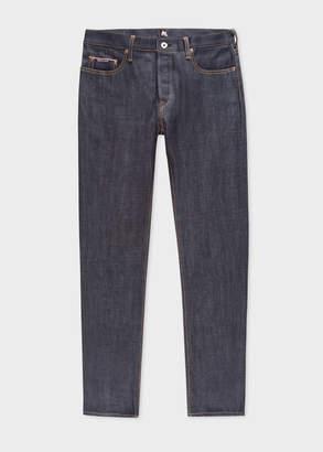Paul Smith Men's Standard-Fit Rigid Indigo Denim Red Ear Jeans