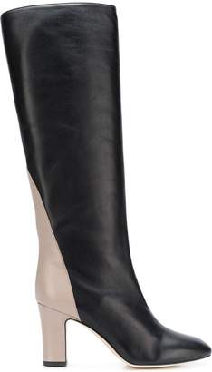 Couture Gia contrast heel boots