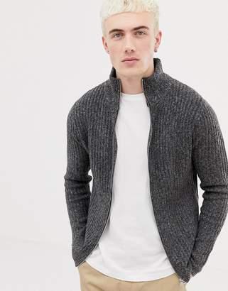 Pull&Bear cardigan in gray