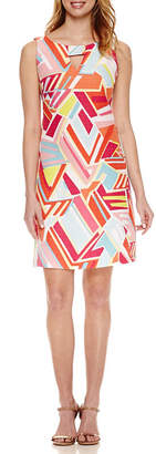 Ronni Nicole Sleeveless Geometric Sheath Dress
