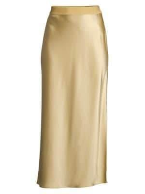 Theory Sateen Midi Slip Skirt