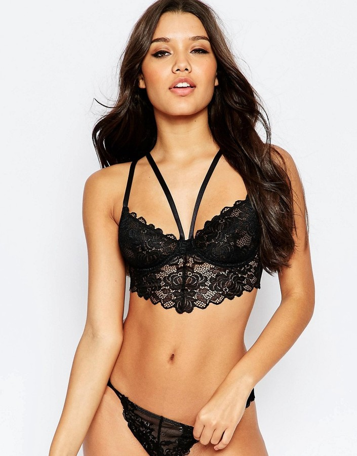 ASOS Caged Spider Lace Bralette