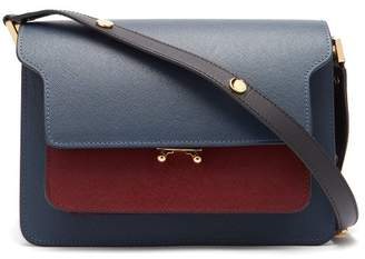 Marni Trunk Medium Leather Bag - Womens - Burgundy Multi