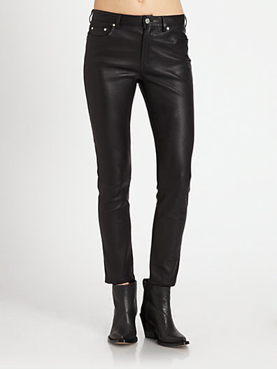 Acne Studios Skin 5 Leather Skinny Jeans