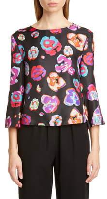 Emporio Armani Floral Print Silk Blouse